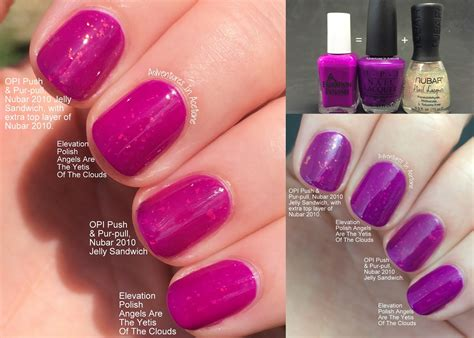 what color match purple i9life club adventures in acetone diy dupe elevation polish angels