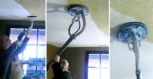 removes popcorn ceiling in just seconds with