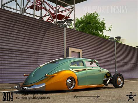 volkswagen custom this volkswagen beetle hotrod rendering should become real