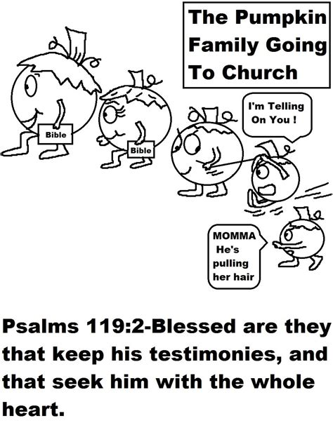 pumpkin coloring pages for sunday school pumpkin family going to church coloring page jpg 1019