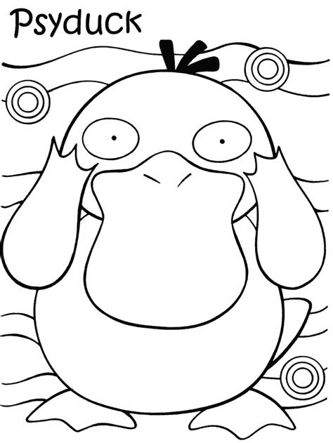 pokemon psyduck coloring page