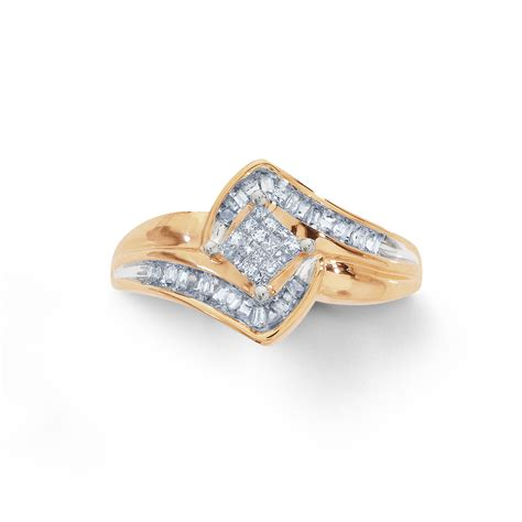 baguette diamonds bridal ring sears