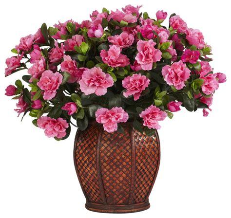 Indoor Plant Vases by Azalea With Vase Silk Plant Artificial