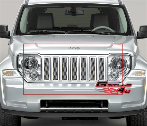 Jeep Liberty Grill Fits 08 11 2011 Jeep Liberty Stainless Mesh Grille Insert