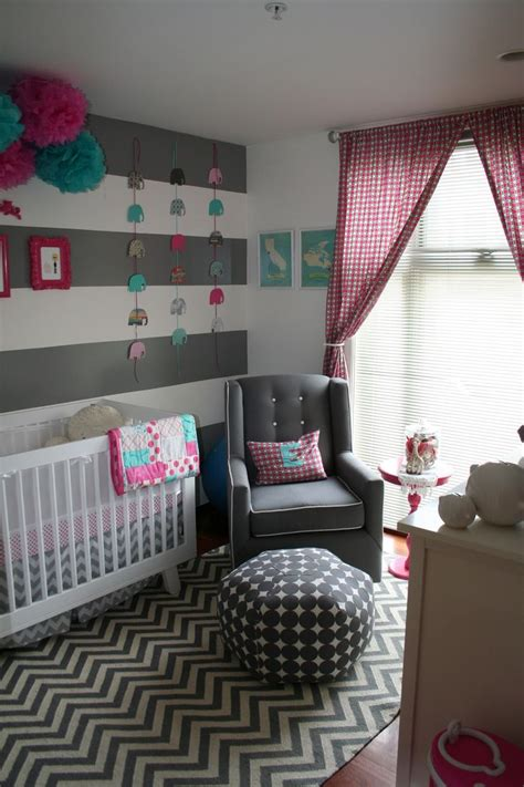 girl room colors emma s nursery babynursery pink turquoise grey
