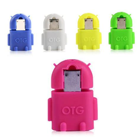 android otg android otg robot shape micro usb to otg adapter cable for smart mobile phone android tablet pc