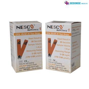 Alat Multicheck Nesco nesco multicheck blood uric acid tes strips toko medis