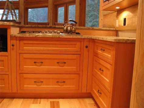 vertical grain douglas fir customizable modular cabinets