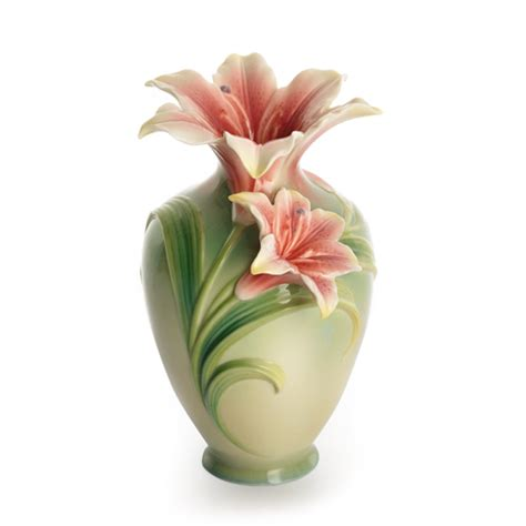 Vase Of Lilies Franz Collection Small Lily Vase