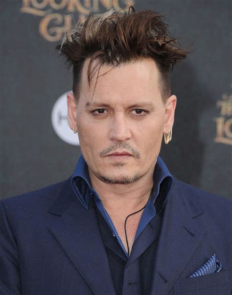 Johnny Depp Hairstyle by Johnny Depp S Haircut Looks Like Edward Scissorhands