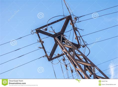 electric pole wires vintage electric pole with wires stock photo image of
