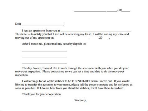 apartment lease termination letter templates ms