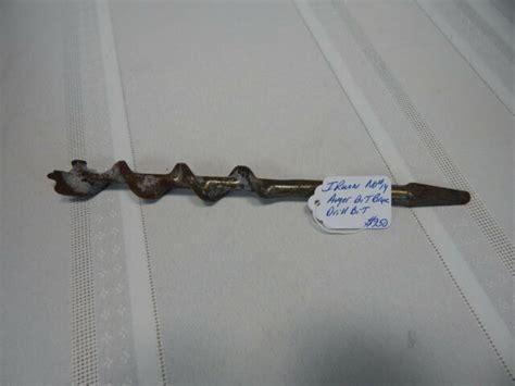 vintage irwin  auger bit brace drill bit  ebay