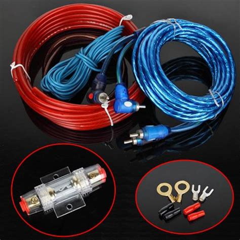 sub power cable 1500w car audio subwoofer sub lifier rca wiring kit