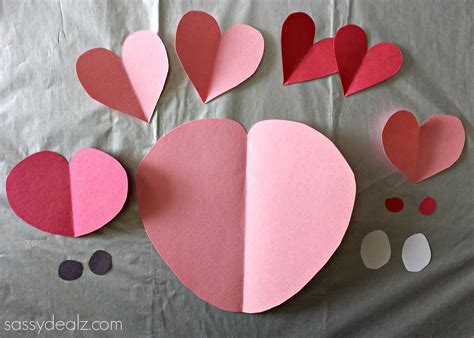 Craft Paper Hearts - pig craft for crafty morning