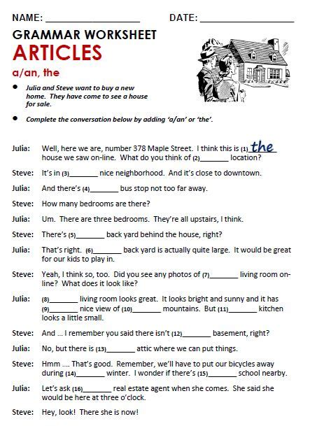 grammar exercise the definite and indefinite articles 13 best images about articles on pinterest english