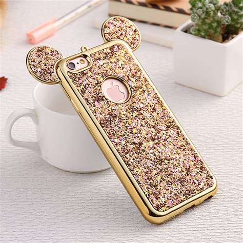 Iphone 5 7 Plus Custom Softcase Casing Barong Ethnic 010 bling paillettes soft tpu phone for iphone 8 7 plus mickey ear protective glitter phone