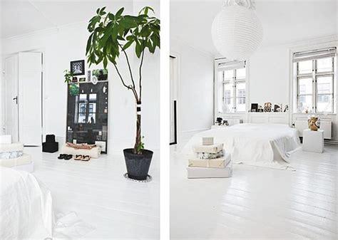 Small Bedroom Color Combination - stylish black and white scandinavian interior