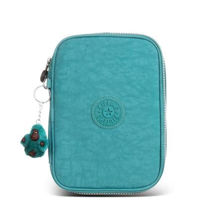estojo grande verde simply green 100 pens kipling bags