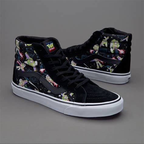 sepatu sneakers vans x story sk8 hi reissue buzz lightyear