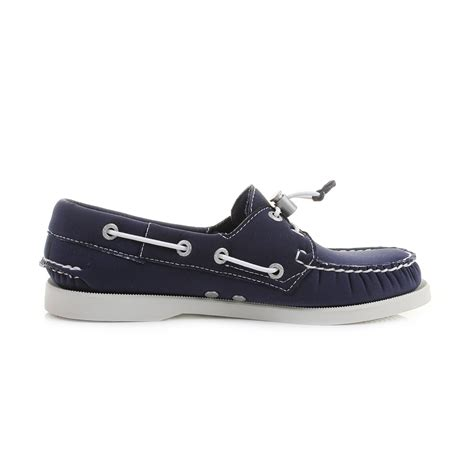 womens sebago dockside navy neoprene comfort boat shoes uk