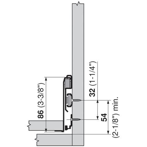 Blum Metabox Drawer System by Blum Zst 550mh Metabox 330 Lateral Stabilizer Kit Woodworker Express