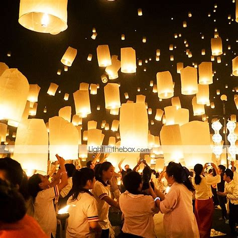 How To Make Paper Sky Lanterns - eco friendly material wedding decorations 10piece set