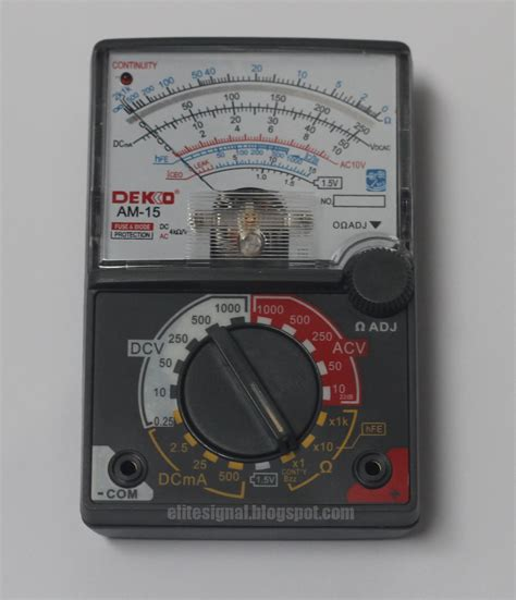 elite signal multimeter analog dan keunggulannya