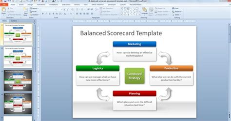 exle balanced scorecard template free software and