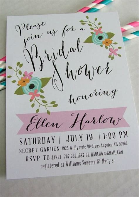 diy printable bridal shower invitations printable bridal shower invitation ellen diy floral and