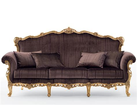 gold fabric sofa nella vetrina arimo ari02 baroque gold leaf italian fabric