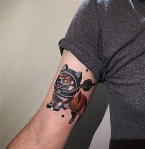 corgi tattoo astronaut corgi inkstylemag