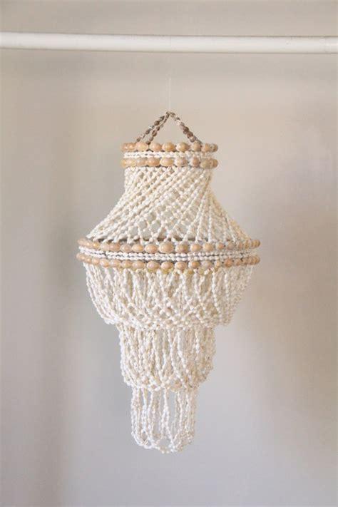 shell chandelier vintage handmade shell chandelier