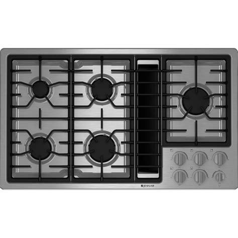 Black Kitchen Island With Stainless Steel Top gas downdraft cooktop 36 quot jenn air