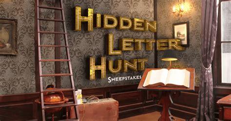 Hunting Sweepstakes 2017 - hunter street hidden letter hunt nickelodeon sweepstakes 2017 nick com hunt