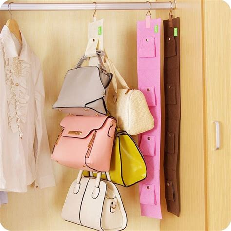 ideas for hanging backpacks 4 hooks handbag purse bag holder shelf hanger hanging rack