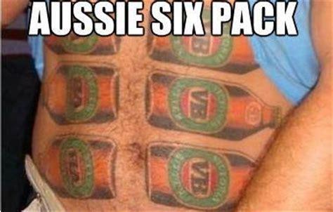 6 pack tattoo six pack aussie memes australia and six packs