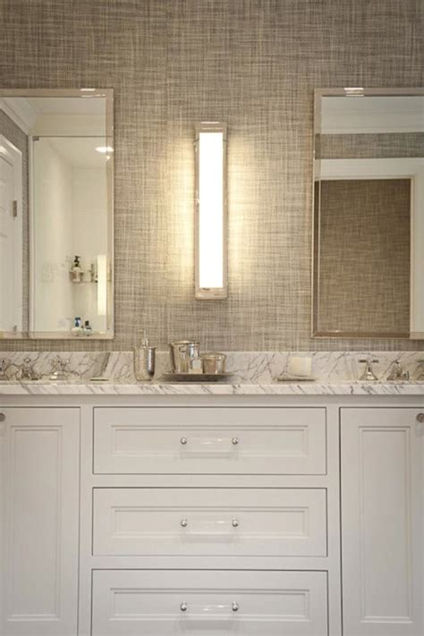 seagrass wallpaper in bathroom gray grasscloth wallpaper transitional bathroom jcs