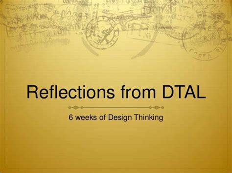design thinking reflection reflections on design thinking