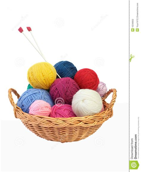 how to take yarn knitting needles colorful knitting yarn and needles in a basket stock