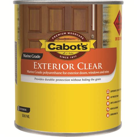 clear exterior paint cabot s 500ml gloss exterior clear timber finish