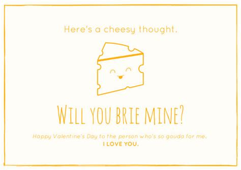 Cheesy Card Templates by Orange Cheesy Boyfriend Valentines Card Templates By Canva