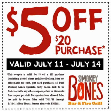 printable free restaurant coupons free printable coupons smokey bones coupons