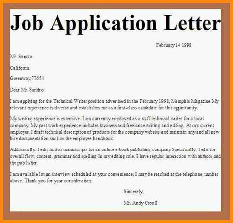 Application Letter Vacancy 10 Sle Of Application Letter For Vacancy Pdf Model Resumed