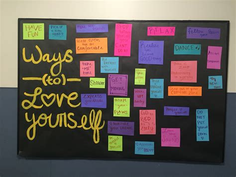 themes related to love quot ways to love yourself quot bulletin board ra ideas
