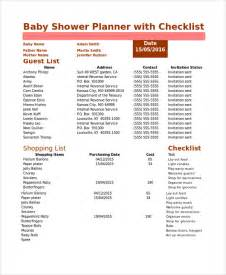 sample baby shower checklist 8 examples in pdf excel