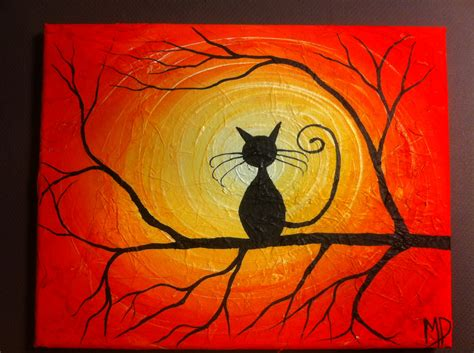 easy painting cat cat painting what can i see 8 x 10 acrylic by michaelhprosper