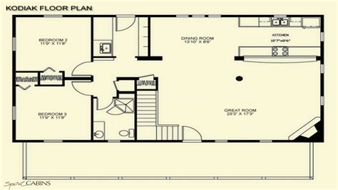 log cabin floor plans  loft log cabin floor plans   square feet cabins plans