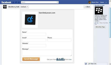 cara membuat facebook jadi halaman kontak email di facebook dani setiyawan