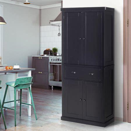 homcom   traditional freestanding kitchen pantry